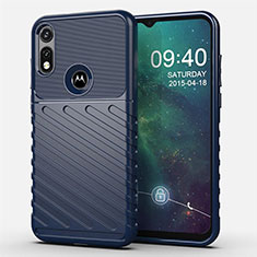 Funda Silicona Carcasa Goma Twill para Motorola Moto E (2020) Azul