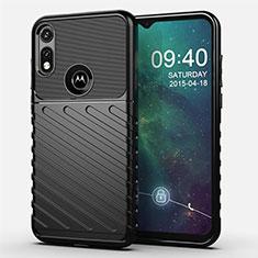 Funda Silicona Carcasa Goma Twill para Motorola Moto E (2020) Negro
