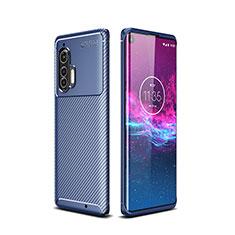 Funda Silicona Carcasa Goma Twill para Motorola Moto Edge Plus Azul