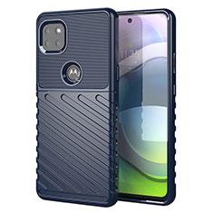 Funda Silicona Carcasa Goma Twill para Motorola Moto G 5G Azul