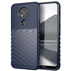 Funda Silicona Carcasa Goma Twill para Nokia 3.4 Azul