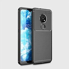 Funda Silicona Carcasa Goma Twill para Nokia 7.2 Negro