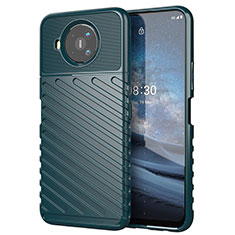 Funda Silicona Carcasa Goma Twill para Nokia 8.3 5G Verde Noche