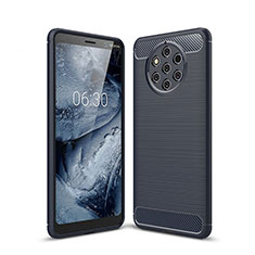 Funda Silicona Carcasa Goma Twill para Nokia 9 PureView Azul