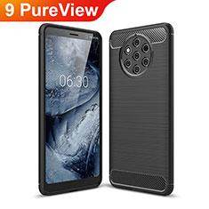 Funda Silicona Carcasa Goma Twill para Nokia 9 PureView Negro