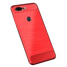 Funda Silicona Carcasa Goma Twill para OnePlus 5T A5010 Rojo