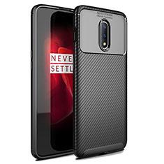 Funda Silicona Carcasa Goma Twill para OnePlus 7 Negro
