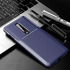 Funda Silicona Carcasa Goma Twill para OnePlus 8 Azul