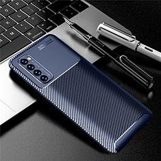 Funda Silicona Carcasa Goma Twill para Oppo Reno4 Pro 4G Azul