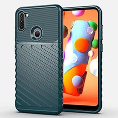 Funda Silicona Carcasa Goma Twill para Samsung Galaxy A11 Verde