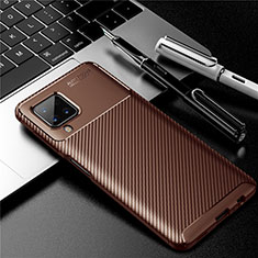 Funda Silicona Carcasa Goma Twill para Samsung Galaxy A12 Marron
