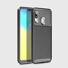 Funda Silicona Carcasa Goma Twill para Samsung Galaxy A20e Negro