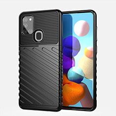 Funda Silicona Carcasa Goma Twill para Samsung Galaxy A21s Negro