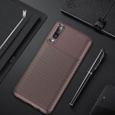 Funda Silicona Carcasa Goma Twill para Samsung Galaxy A30S Marron