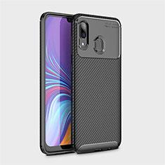 Funda Silicona Carcasa Goma Twill para Samsung Galaxy A40 Negro