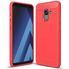 Funda Silicona Carcasa Goma Twill para Samsung Galaxy A5 (2018) A530F Rojo