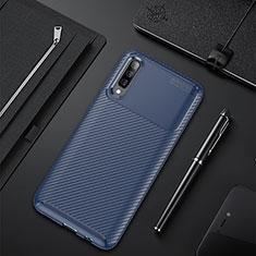Funda Silicona Carcasa Goma Twill para Samsung Galaxy A50 Azul