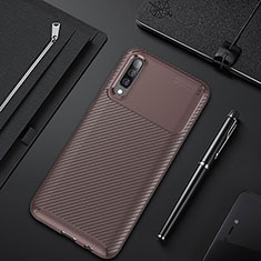 Funda Silicona Carcasa Goma Twill para Samsung Galaxy A50 Marron