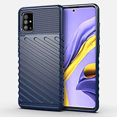 Funda Silicona Carcasa Goma Twill para Samsung Galaxy A51 4G Azul