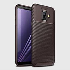 Funda Silicona Carcasa Goma Twill para Samsung Galaxy A6 (2018) Dual SIM Marron