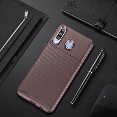 Funda Silicona Carcasa Goma Twill para Samsung Galaxy A60 Marron