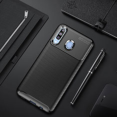 Funda Silicona Carcasa Goma Twill para Samsung Galaxy A60 Negro