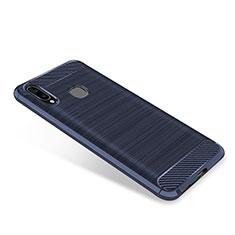 Funda Silicona Carcasa Goma Twill para Samsung Galaxy A8 Star Azul
