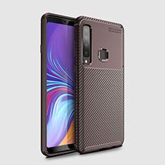 Funda Silicona Carcasa Goma Twill para Samsung Galaxy A9s Marron