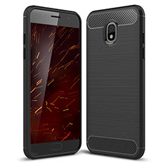 Funda Silicona Carcasa Goma Twill para Samsung Galaxy Amp Prime 3 Negro