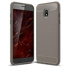 Funda Silicona Carcasa Goma Twill para Samsung Galaxy J3 (2018) SM-J377A Gris