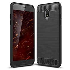 Funda Silicona Carcasa Goma Twill para Samsung Galaxy J3 Star Negro