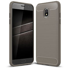 Funda Silicona Carcasa Goma Twill para Samsung Galaxy J7 (2018) J737 Gris