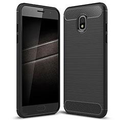 Funda Silicona Carcasa Goma Twill para Samsung Galaxy J7 (2018) J737 Negro