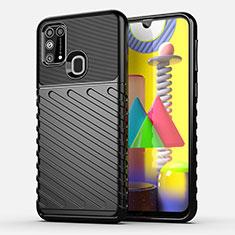 Funda Silicona Carcasa Goma Twill para Samsung Galaxy M21s Negro
