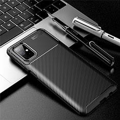 Funda Silicona Carcasa Goma Twill para Samsung Galaxy M51 Negro
