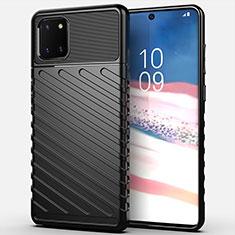 Funda Silicona Carcasa Goma Twill para Samsung Galaxy Note 10 Lite Negro