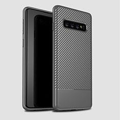 Funda Silicona Carcasa Goma Twill para Samsung Galaxy S10 Plus Gris