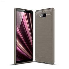 Funda Silicona Carcasa Goma Twill para Sony Xperia 10 Plus Gris