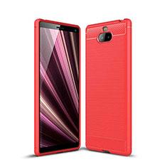 Funda Silicona Carcasa Goma Twill para Sony Xperia 10 Plus Rojo