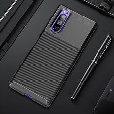 Funda Silicona Carcasa Goma Twill para Sony Xperia 5 Negro
