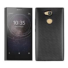 Funda Silicona Carcasa Goma Twill para Sony Xperia L2 Negro