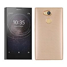 Funda Silicona Carcasa Goma Twill para Sony Xperia L2 Oro