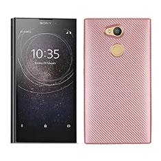 Funda Silicona Carcasa Goma Twill para Sony Xperia L2 Oro Rosa