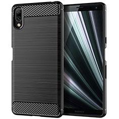 Funda Silicona Carcasa Goma Twill para Sony Xperia L3 Negro