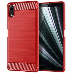 Funda Silicona Carcasa Goma Twill para Sony Xperia L3 Rojo