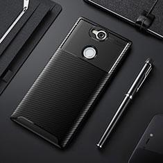 Funda Silicona Carcasa Goma Twill para Sony Xperia XA2 Negro