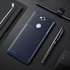 Funda Silicona Carcasa Goma Twill para Sony Xperia XA2 Plus Azul