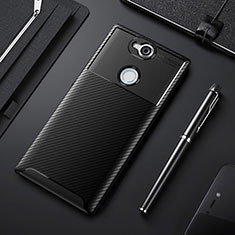 Funda Silicona Carcasa Goma Twill para Sony Xperia XA2 Plus Negro