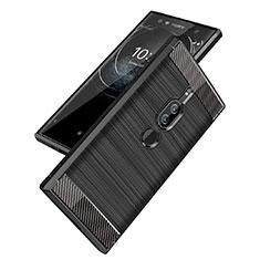 Funda Silicona Carcasa Goma Twill para Sony Xperia XZ2 Premium Negro