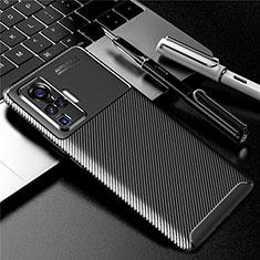 Funda Silicona Carcasa Goma Twill para Vivo X50 Pro 5G Negro